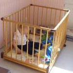 kid in crib